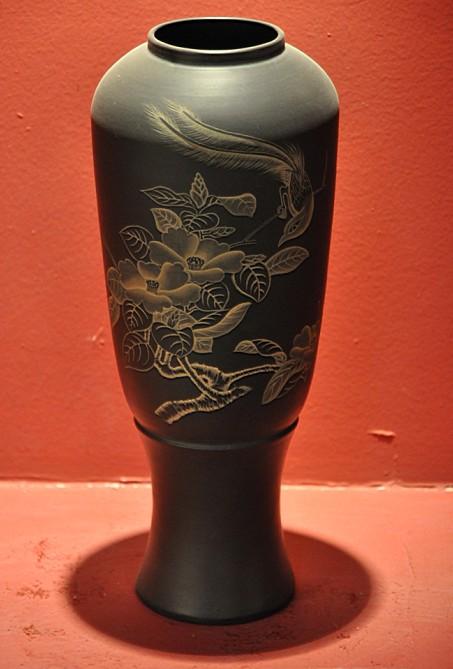 水浒瓶(黑陶)