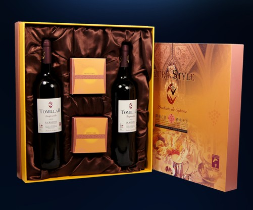 西班牙原瓶原装精选托美亚干红葡萄酒+米旗月饼