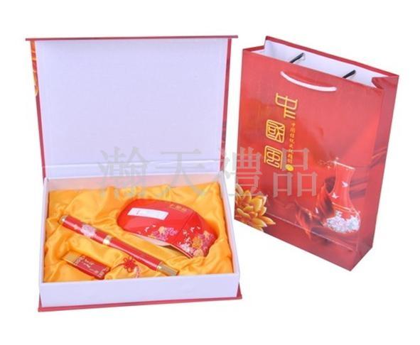 中国红折鼠瓷笔U盘套装