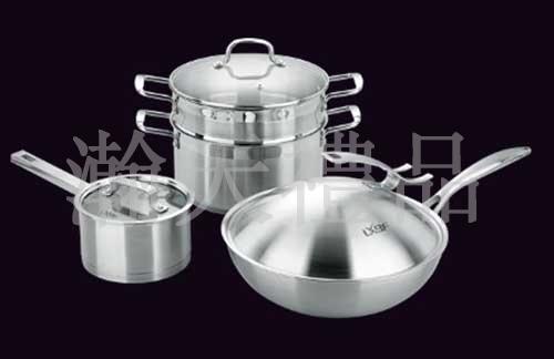高端三合一不锈钢厨具