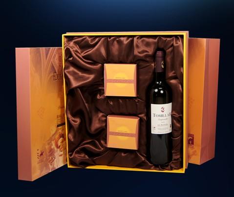 西班牙原瓶原装精选托美亚干红葡萄酒+2块米琪月饼