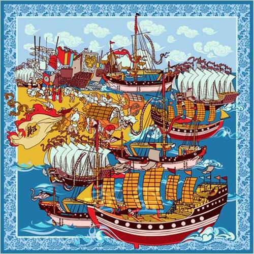 丝绸之路系列之西洋寻梦丝巾