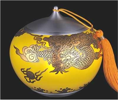 《龙腾海天》陶瓷罐