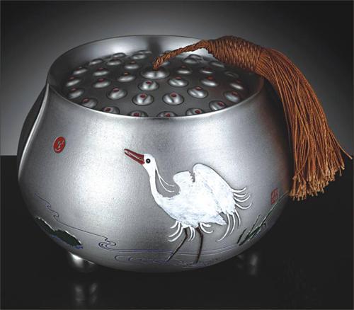 《一路连升》锡茶叶罐