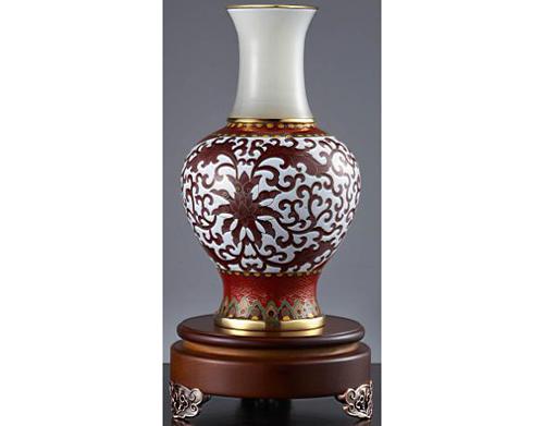 景泰蓝鸿运吉祥花瓶